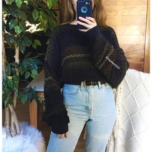 🌿 Vintage Earthy Chenille Oversized Detailed Knit
